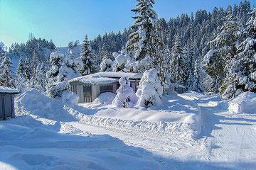 Camping Isarhorn im Winter