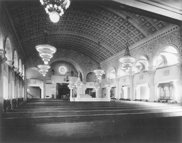 Innenraum der Ez-Chaim-Synagoge