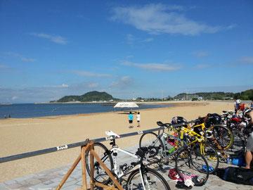 姫島の海と空