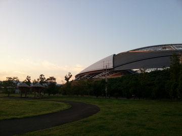 朝日のドーム