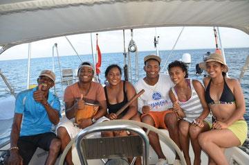 Isla Fuerte Colombian Musicante 10-01-2014, Arnaldo, Edwin, Ana, Jose, Nepesisy, Eli.