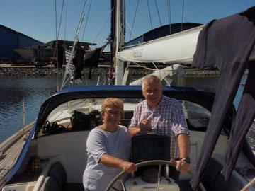 Gabi und Ingo,  Pier 26, Guaruja,  Juli 2012