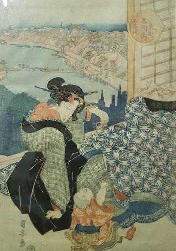 art japonais, estampe, kuniyasu, toyokuni, netsuké, inro, katana, wakisashi, tanto, galerie, Japon, art asiatique toyokuni III, kunisada