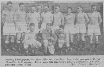 FC Phönix Ludwigshafen - Meister der Bezirksklasse Pfalz Ost 1936/37