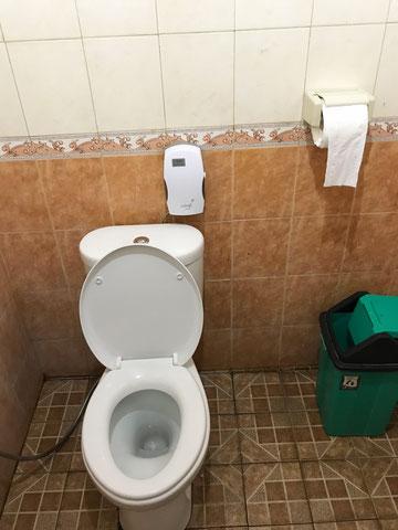 WC auf dem Gelände des Sacred Monkey Forest Ubud