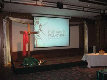 Das Foto ist beim Karfreitags-Gottesdienst der Deutsch-Thailändischen Gemeinde in Chiang Mai/ Nordthailand entstanden