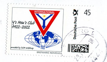 A stamp fokr the 100 years anniversary of the Y's Men's Club?