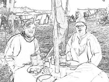 Mathias und Fred in Bäbelin