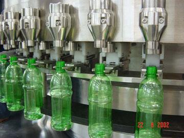 Llenado de las botellas