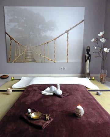 Pièce douillette et zen