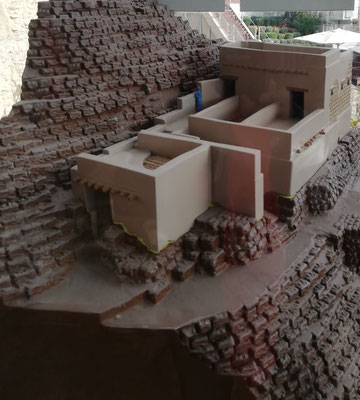 "Model of the ""House of Ahiel"" and the Stone Stepped Structure"