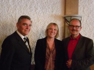 Rektor Siegfried Bäumel, Dr. Miriam Banas und Prof. Dr. Werner Riegel