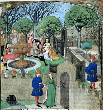 Roman de la Rose : « Le jardin du plaisir ».