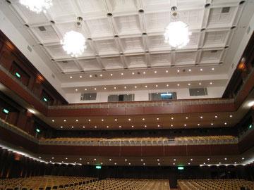 アクロス福岡。素敵です。舞台から撮影。