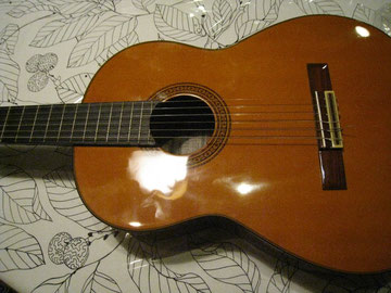 ギター、はじめて練習しました。楽しいな。