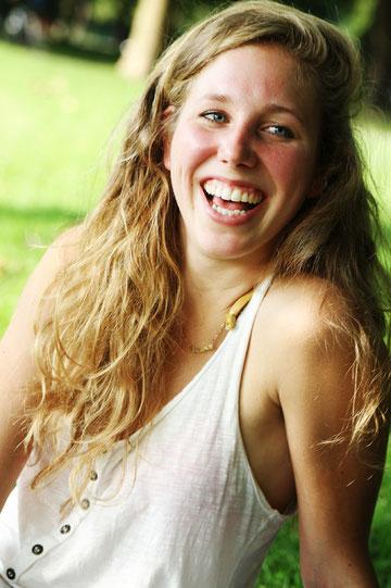 """""""Es wird eine gute Zeit."""" - Trotz Prüfungsstress verliert Carolin nicht ihre gute Laune. Fotos: Marlene Mondorf"""