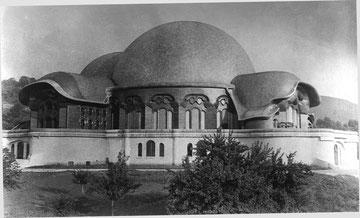 Das erste Goetheanum (Nord-West-Seite)