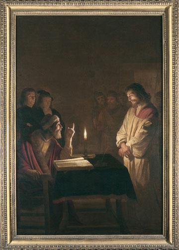 Gerrit van Honthorst (Utrecht 1592 - 1656) Cristo dinanzi a Caifa 1615-1616 Olio su tela Londra, The National Gallery