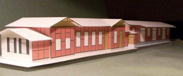 Controller Modell des Empfanggebäudes mit Güterschuppen