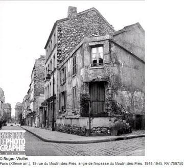 Bâtisses délabrées du 13ème arrondissement de Paris dans les années 50