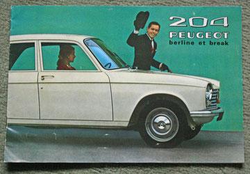 Brochure publicitaire Peugeot pour la 204  vers 1970