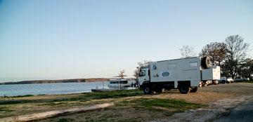 Unser Stellplatz in Lake Arthur