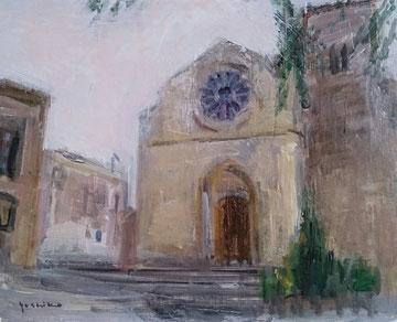 古い教会  3号油彩