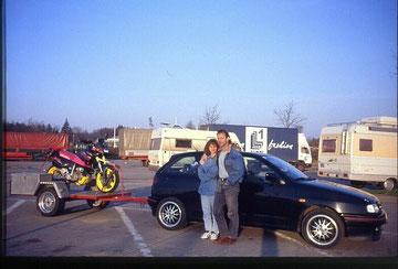 auf dem weg nach schaafheim zum sm fahren ;-)  1995