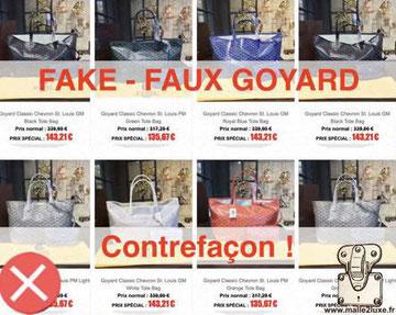 faux site contrefaçon goyard attention prix réduit