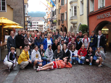 Group in front of Goldener Hof,  Innsbruck