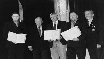 VL: Josef Bottler, Egidius Braun, Edi Tischner, Gerhard Mayer-Vorfelder