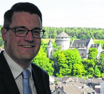 Will auch an der Identifikation der Stolberger mit ihrer Stadt arbeiten: Der neue Bürgermeister Dr. Tim Grüttemeier.
