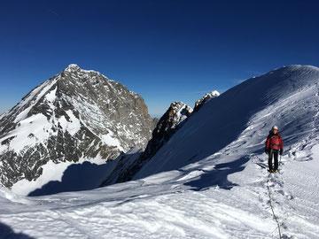 Eiger Nordwand, Eiger Northface, Eiger Heckmair, südliches Eigerjoch, Eigerjöcher, Abstieg, Descent