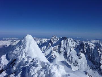 Finsteraarhorn, Schreckhorn, Lauteraarhorn, Gipfel, Jungfraugebiet, Skitouren, Schweiz