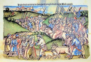 Mongolen verschleppen ungarische Bürger