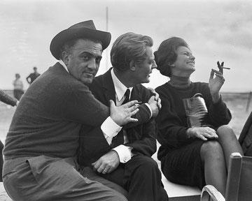 Federico Fellini - Marcello Mastroianni - Sophia Loren