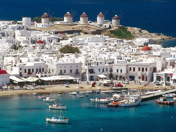 The harbour of Mykonos