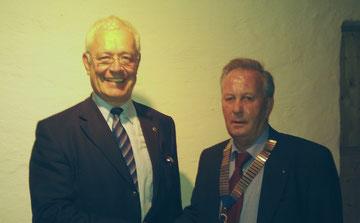 zukünftiger Past-Präsident Claus und der neue Präsident Seidenstücker