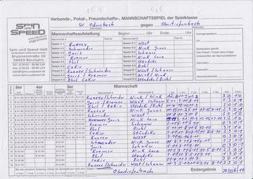 Spielbericht gegen Obertiefenbach (zum Vergrößern anklicken)