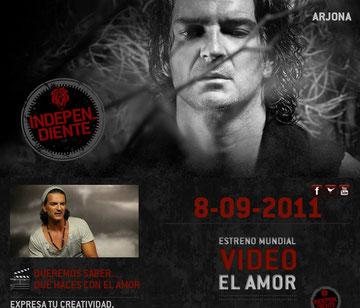 El sitio oficial  del cantante guatemalteco Ricardo Arjona es www.ricardoarjona.com