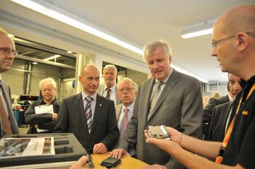 Besuch von Ministerpräsident Horst Seehofer bei Continental in Lindau