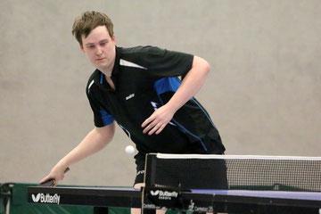 Roland Sommer zeigte eine Spitzenleistung, besonders gegen den Steinhausener Spitzenspieler Tobias Korff.