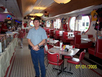 Me standing in a 50's style diner