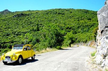 Une rallaye à travers ce paysage magnifique dans la Montagne Noire (Aude)