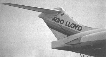 Das elegante Leitwerk einer MD-83 von Aero Lloyd/Courtesy: Aero Lloyd