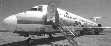 Bugbereich einer MD-83 der Aero lloyd/Courtesy: Aero Lloyd