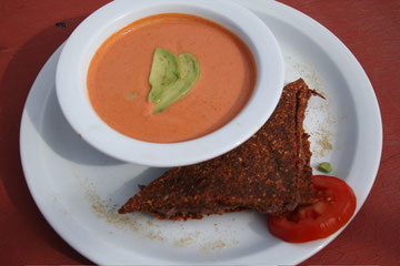 Grilled Cheeze Sandwhich with Tomato Soup
