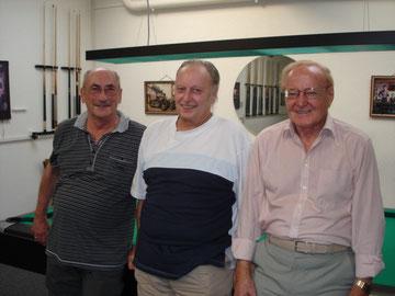 v.l.n.r. Hansruedi Vogt / Edy Ziegler / Sergio Vecellio