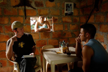 Interviewing a Colombian former paramilitary fighter