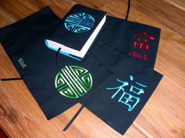 book jackets/cotton/buchhüllen/chinese symbol